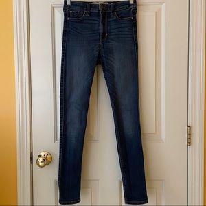 Hollister 1S Blue Super Skinny High Rise Jeans